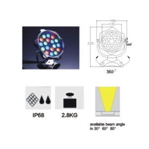 12W/18W RGB LED Underwater Light