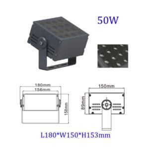 50W ~ 400W LED Floodlight 5°/8°/15°/20°/30°/45°/60° IP66