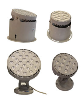 12W 18W / 24W 36W LED Floodlight 2 Installation Ways IP65