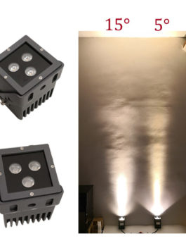 9W CREE LED Floodlight Square 5˚ 8˚ 15˚ 30˚ 45˚ 60˚ optional