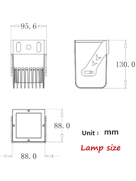 9w cree led floodlight square compact size