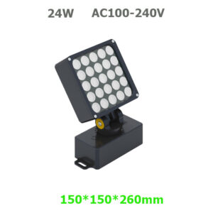 24W AC100-240V LED Garden Spot Floodlight with spike or base
