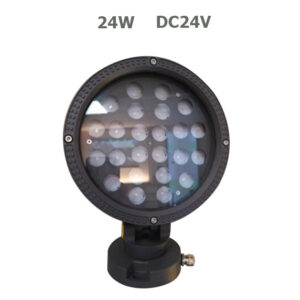 24W DC24V Round LED Garden Spot Floodlight with spike or base