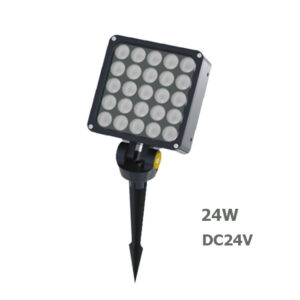 24W DC24V LED Garden Spot Floodlight with spike or base IP65