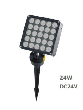 24W AC100-240V LED Garden Spot Floodlight with spike or base