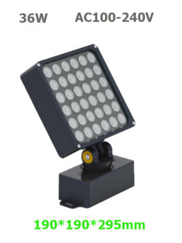 36W AC100-240V LED Garden Spot Floodlight with spike or base