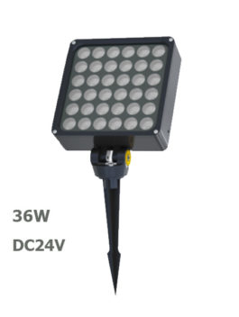 36W DC24V LED Garden Spot Lamp Floodlight with spike or base