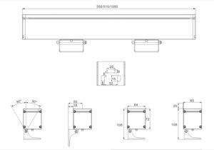 48W 72W single light 72W 96W RGB/RGBW dmx512 LED Polarized Wall Washer