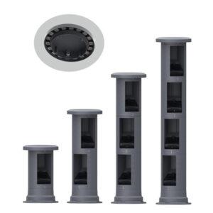 70W-270W LED Pillar Floodlight with 30W Upper Cover IP65