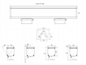 72W single light 108W 144W RGB/RGBW DMX512 LED Wall Washer 3˚ ip65