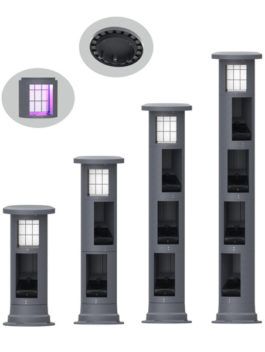 80W-280W LED Pillar Floodlight with mosquito-killing device & upper cover