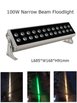 100W 68.50cm LED Floodlight Project Lamp Narrow Beam 3° P65