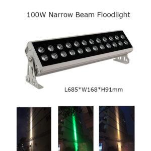 100W 68.50cm LED Floodlight Project Lamp Narrow Beam 3° P65