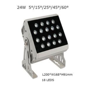 24W 20cm LED Floodlight Outdoor Spot Lamp 5, 15, 25, 45, 60 degrees