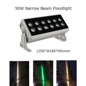 50W 35cm LED Floodlight Project Lamp Narrow Beam 3° P65