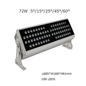 72W 69cm LED Floodlight Project Lamp 5, 15, 25, 45, 60 degrees P65