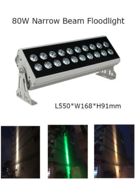 80W 55cm LED Floodlight Project Lamp Narrow Beam 3° P65