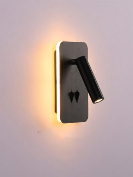 11W surface mount LED Bedside Lamp Wall Light with 2 on-off Switches