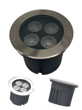 30W 40W AC120V-240V/DC24V COB CREE LED Inground Light IP67