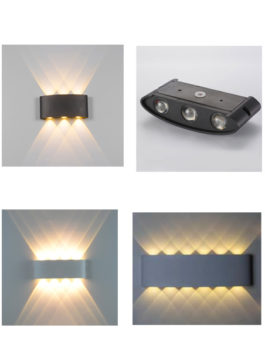 6W/8W/12W double-head LED Up and Down Wall Light Outdoor Ip65
