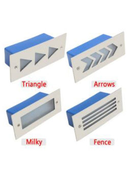 2W LED Staircase Step Light Milky Fence Arrows Triangle IP65
