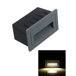 3W AC85-265V COB LED Staircase Step Light L105*W60*H55mm IP65