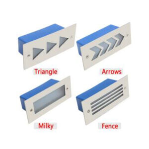 3W LED Staircase Step Light Milky Fence Arrows Triangle IP65