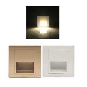 1.5W 86-Type Square LED Recessed Staircase Step Light indoor use