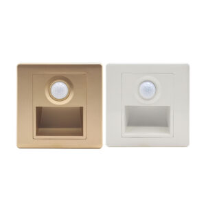 1.5W 86-Type Square LED Recessed Staircase Step Light with PIR Sensor