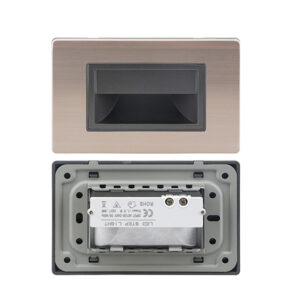 1.5W Rectangle LED Recessed Staircase Step Light Wall Light Ip30